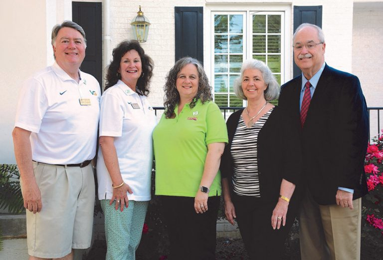 "VGCC's Endowment team with Dr. Desmarais and Sara Wester and Dr. M.W. ""Buddy"" Wester"