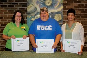 Employees celebrating 25 years of service with VGCC in 2019