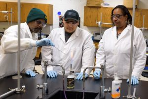 3 students in the biotech program