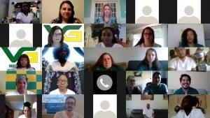 screen shot of virtual nursing pinning