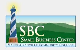 Small Business Center Vance-Granville Community College logo