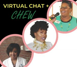 Virtual Chat + Chew- portraits of speakers