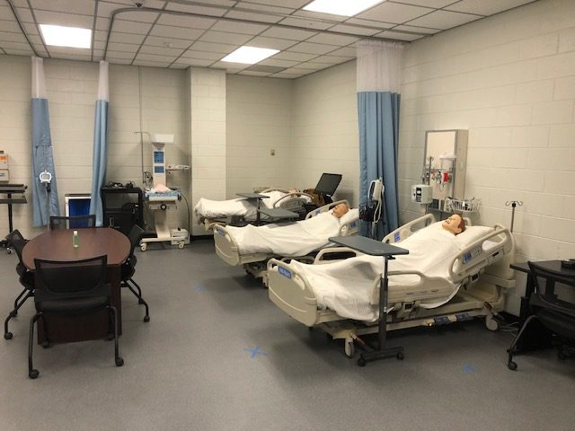 Beds in the new VGCC SimLab