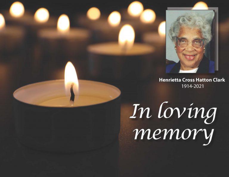 Henrietta Cross Hatton Clark 1914-2021 In loving memory