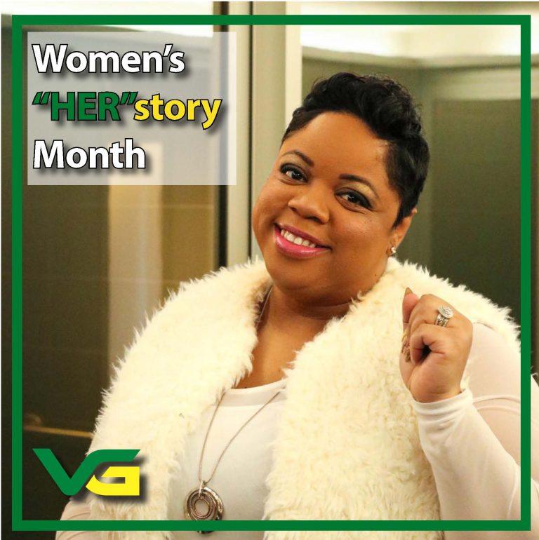 "Photo of Tiffani Polk, Women's ""Her""story month."