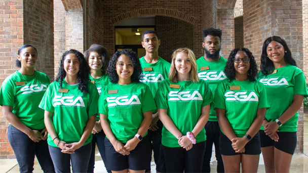 group photo of SGA officers