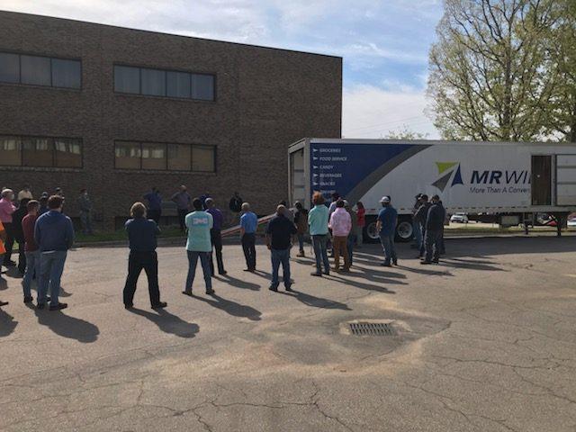 People standing near truck